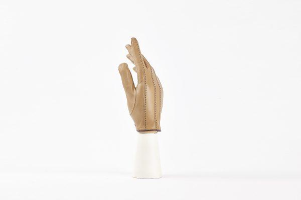 Stéphanie | Guanto donna in pelle nappa con impuntura a mano foderato lana